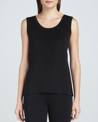 Amy Knit Tank, Black, Women's