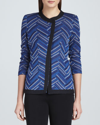Dani Geometric Patterned Jacket, Amy Knit Tank & Carlotta Wide-Leg Pants, ...