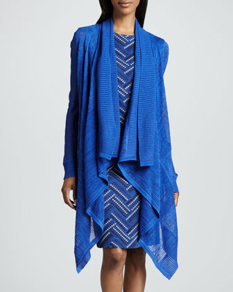 Peggy Cascade Cardigan & Jodie Sleeveless Zigzag Dress