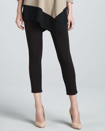 Colorblock Asymmetric Tunic & Cropped Leggings