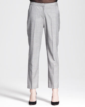 Glen Plaid Cropped Trousers