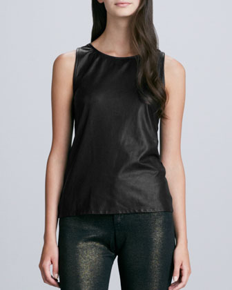 Mikey Leather Tank Top