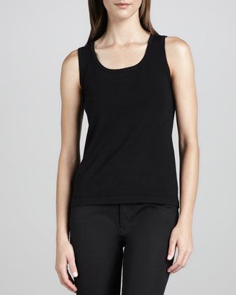 Knit Cotton-Nylon Tank, Petite
