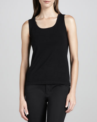 Knit Cotton-Nylon Tank