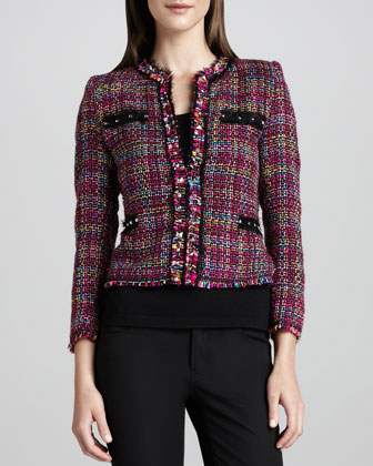 Multicolor Tweed Jacket