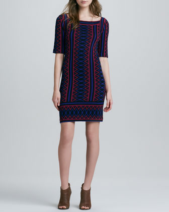 Tanami Zigzag Knit Dress