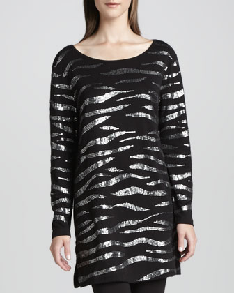 Animal Sequined Tunic & Cropped Leggings