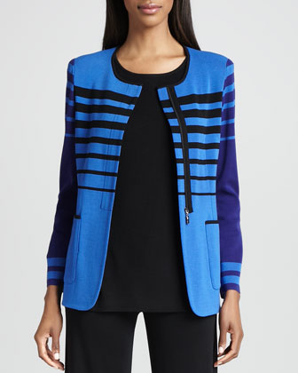 Candy Jacket with Stripes, Petite