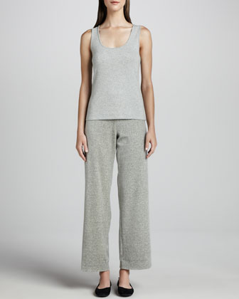 Heather Velour Pants, Petite