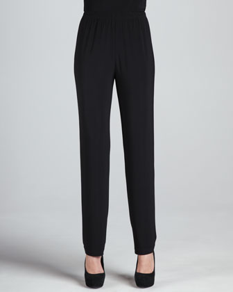 Stretch-Knit Slim Pants