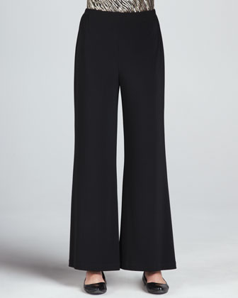 Sequined Mix Easy Top & Wide-Leg Stretch Pants