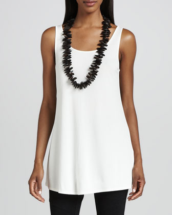 Silk Jersey Long Tunic Tank