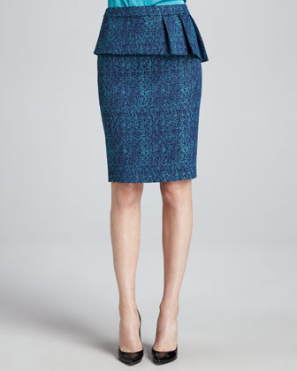 Austen Pleated-Peplum Skirt
