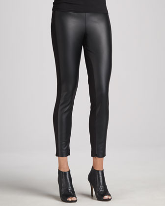 Marlie Faux-Leather-Panel Pants