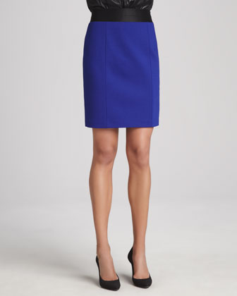 Mandie Full-Side-Zip Skirt