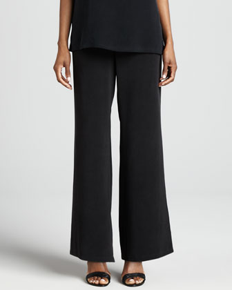 Full-Leg Silk Pants