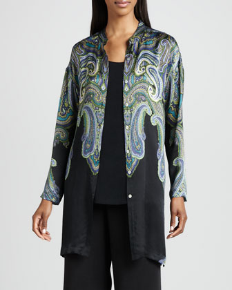 Paisley Printed Silk Jacket