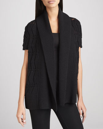 Maylea Open-Front Cardigan Sweater