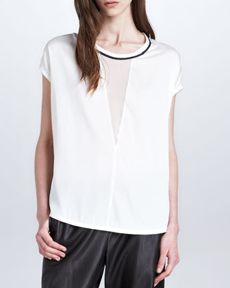Chain Illusion Silk Top