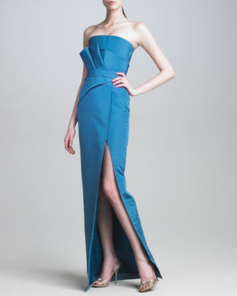Folded-Bodice Gown