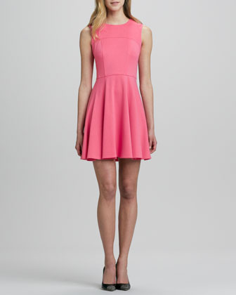 Superslide Fit-and-Flare Dress, Tulip