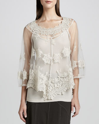 Pierrette Sheer Lace Top