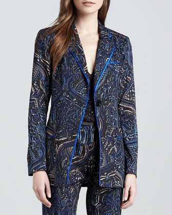 Mystical Printed Twill Jacket