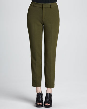 Satellite Cropped Crepe Pants