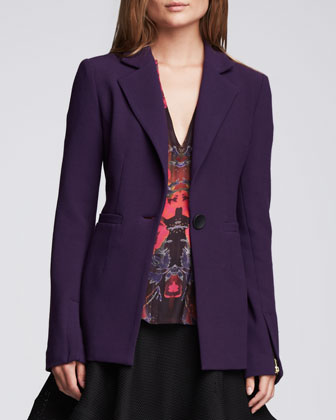 Ultra Ray Zipper-Cuff Blazer