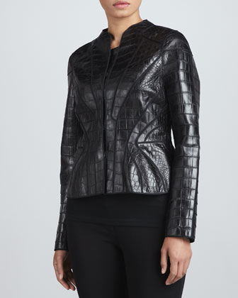 Paneled Alligator Jacket