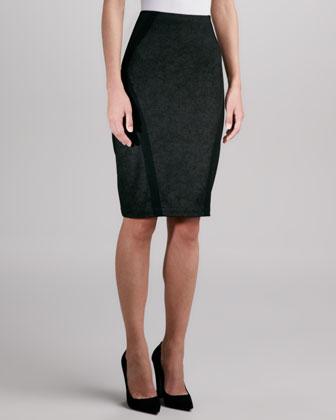 Angle-Seamed Pencil Skirt