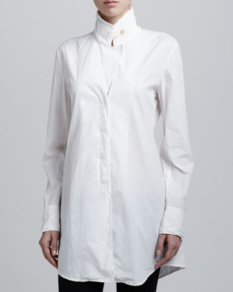 Notched Lapel Tabbed Collar Tunic