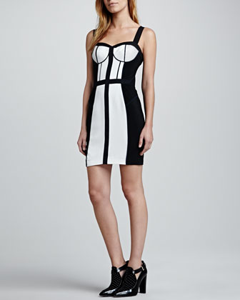 Clarissa Two-Tone Bustier Dress