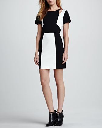 Crystal Colorblock Ponte Dress