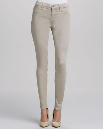 Super Skinny Mid-Rise Jeans, Travertine