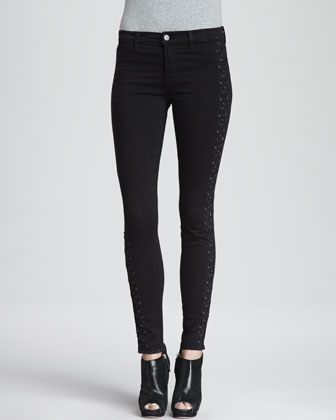Helena Embroidered-Side Jeans
