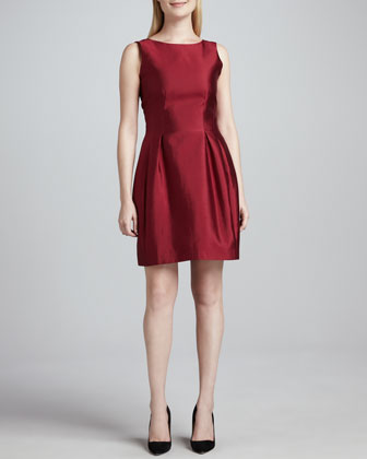 alanis silk-cotton dress