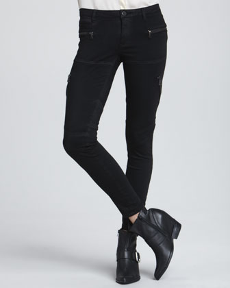 Second Skin Utility Jeans, Black