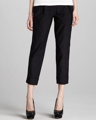 Brooke Pleated Cuffed Pants