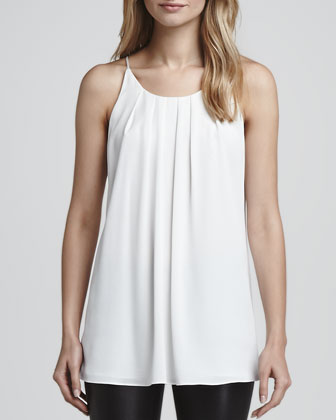 Pleat-Front Long Tank