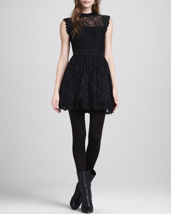 Vendela Open-Back Lace Dress
