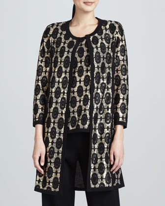 Brocade Jacquard Long Jacket