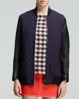 Pacific Quilted Coated-Sleeve Jacket