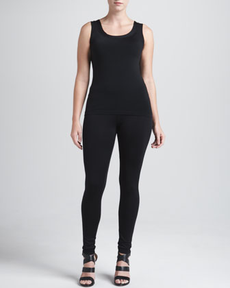 Ribbed Jersey Leggings, Deep