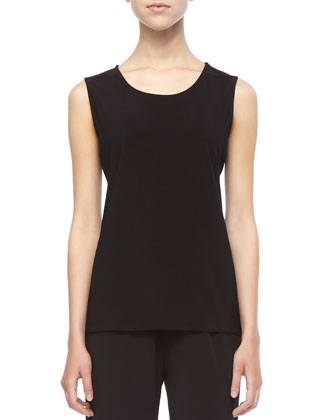 Stretch-Knit Long Tank, Women's