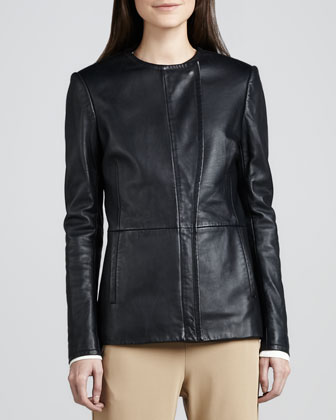 Jeleta Leather Blazer