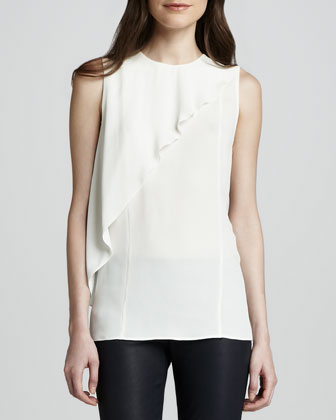 Charelee Asymmetric-Ruffle Blouse