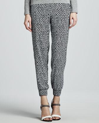 Persha Houndstooth-Print Pants
