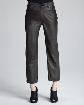 Paulette Leather Pants, Smolder