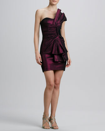 Strapless Folded Bow Cocktail Dress